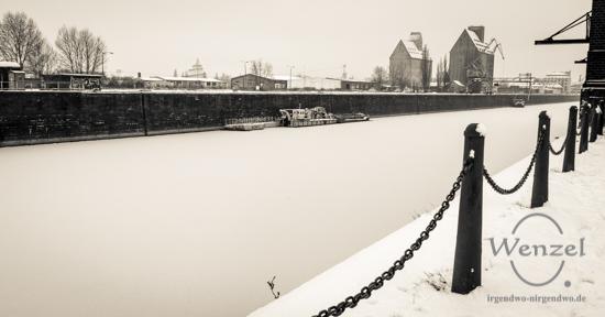 Winterspaziergang, Magdeburg, Wissenschaftshafen –  Foto Wenzel-Oschington.de