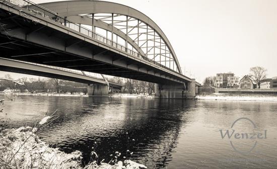 Winterspaziergang, Magdeburg, Jerusalembrücke –  Foto Wenzel-Oschington.de
