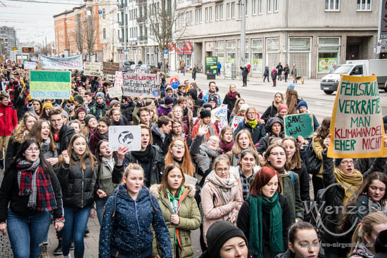 Magdeburg, Magdeburg 2025, Internationaler Schulstreik, Fridays For Future, Demonstration –  Foto Wenzel-Oschington.de