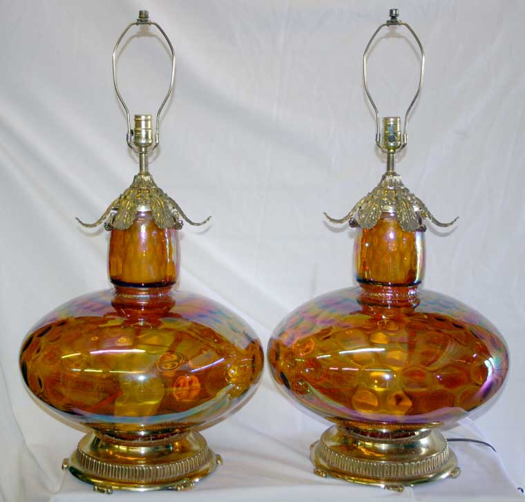 Vintage Carnival Glass Lamps Pictures to Pin on Pinterest