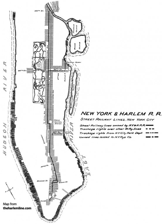 The Street Railway of the New York and Harlem Railroad