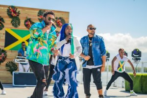 Spice, Shaggy, and Sean Paul perform for GMA's Summer Concert series