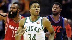 Harden, Antetokounmpo & George shortlisted for NBA MVP award