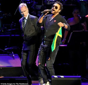 Shaggy performs for Rainforest fund in New York