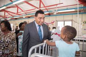 PM says gov't is committed to improving facilities at Bustamante Hospital