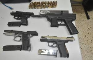 Five guns & 75 rounds of ammunition seized this weekend