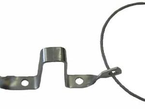 Hulp koppeling met staalkabel en stekkerhouder