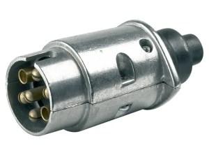 Stekker 7 polig - 12 volt metaal