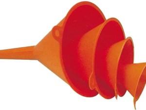Trechters 4 stuks oranje