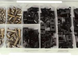 170 delig U-clip & schroeven assortiment
