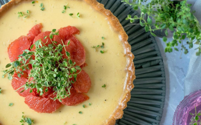 Grapefruit and thyme tart