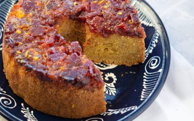 Polenta cake with quince jam