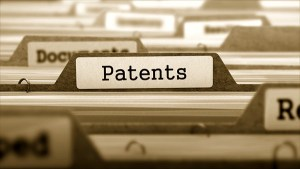 Patents File Label in drawer of files