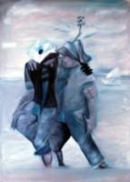 Die zwei Männer und das Meer, Öl /LW, 70 x 50 (2011) isten