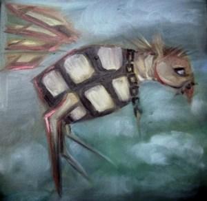 Granat, Öl, 40 x 40 ,2009