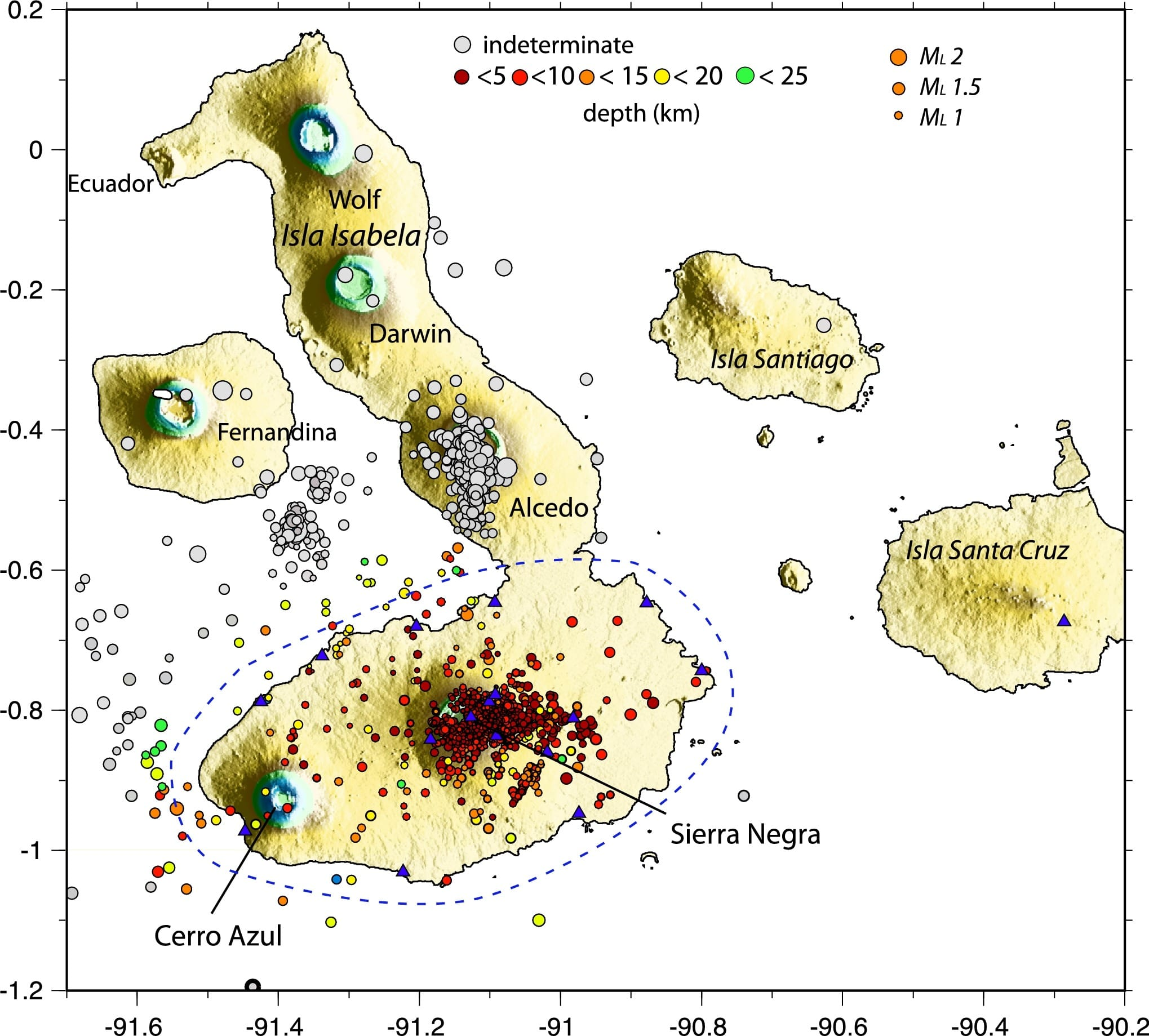 Earthquakes And Volcanoes Of The Galapagos Islands
