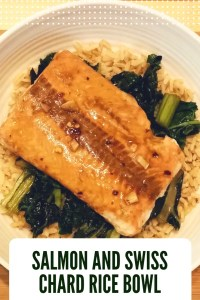 Salmon and Swiss Chard Rice Bowl