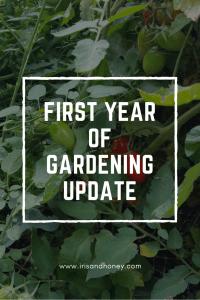 First Year of Gardening Update