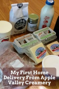 My First Home Delivery From Apple Valley Creamery
