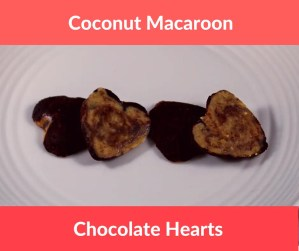 Coconut Macaroon Chocolate Hearts