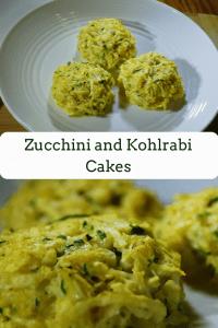 Zucchini and Kohlrabi Cakes