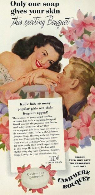 vintage ad fragrance beauty pink