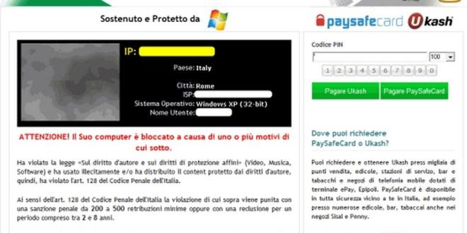 Rimuovere Virus polizia postale