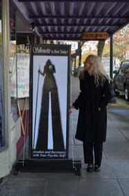 Personal Appearances : Psychic Silhouette next to her sign