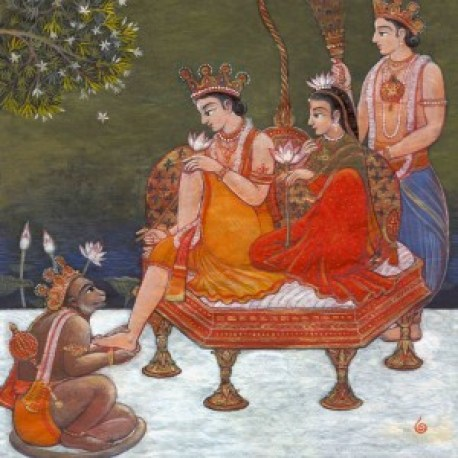 Shri SitaRama Enthroned