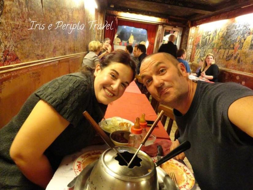 Sara e Ruggero al Le Refuges des Fondus a Parigi, dove mangiare a montmartre!
