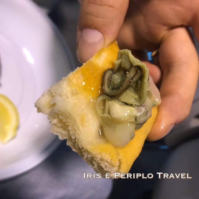 focaccia con ostrica liguria travel show