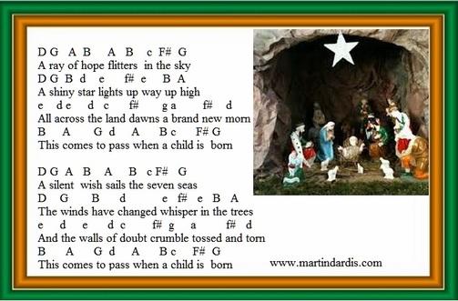 When A Child Is Born Tin Whistle notes  Irish folk songs