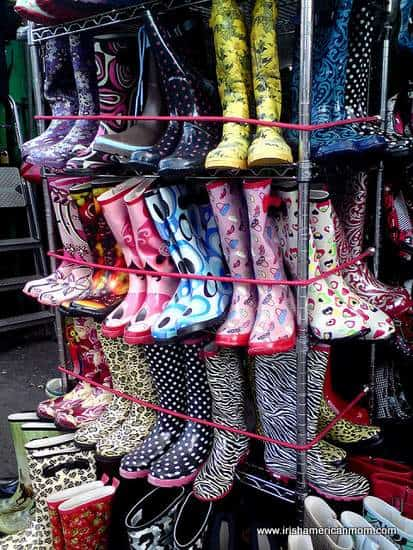 Fancy Wellies or Wellington Boots on Display