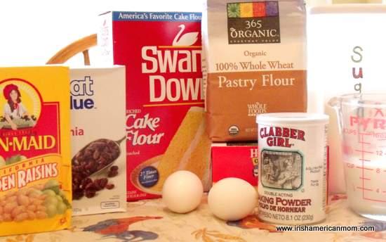 Ingredients for Irish scones