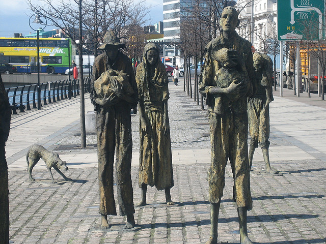 Famine sculptures in Dublin