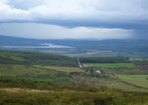 Landscape surrounding the Grianan of Aileach