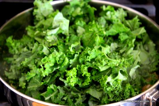 Kale In Sautee Pan