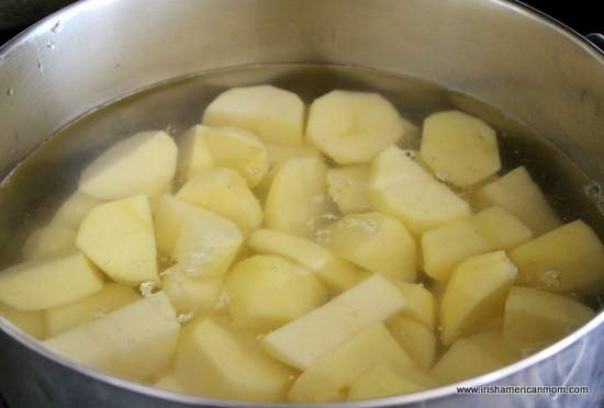 Potatoes In Pot For Boiling