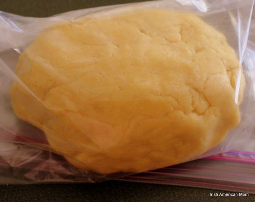 Pastry in plastic bag to relax in refrigerator
