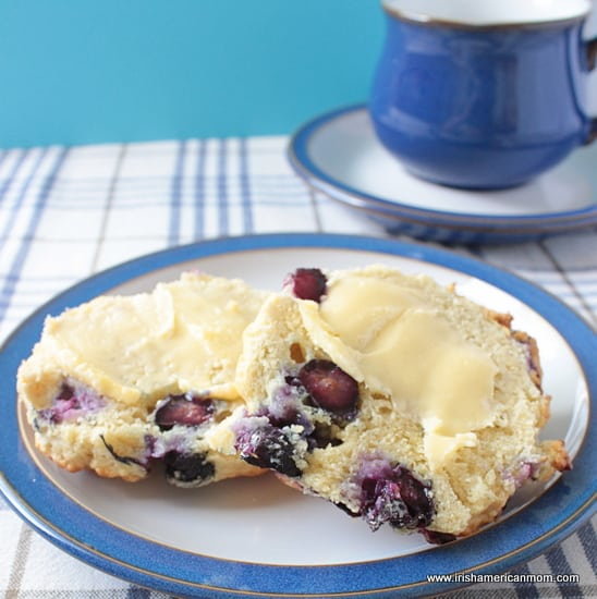 Buttered Blueberry Scones