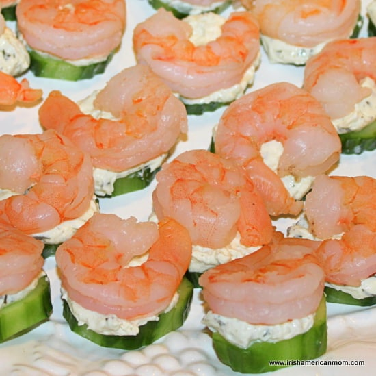 easy shrimp and cucumber