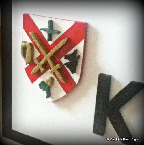 Kildare Crest on an old Irish signpost