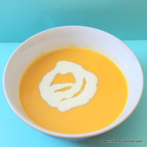 Cream and rutabaga and carrot soup