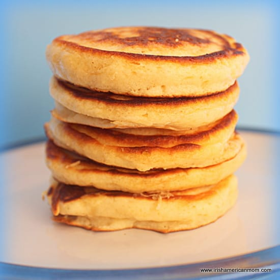 A tower of Scottish pancakes or drop scones