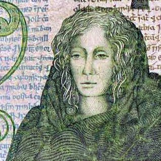 Queen Maeve on the old Irish pound note