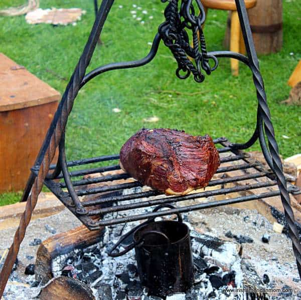 Grilling Meat Viking Style