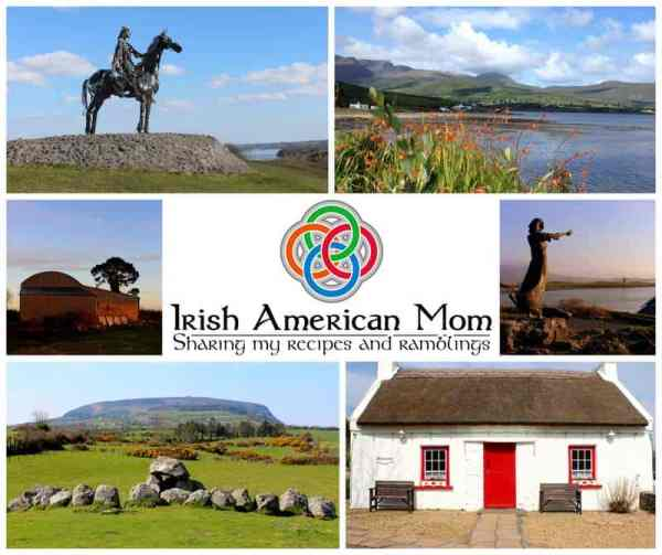 Irish American Mom Picture Collage with Logo