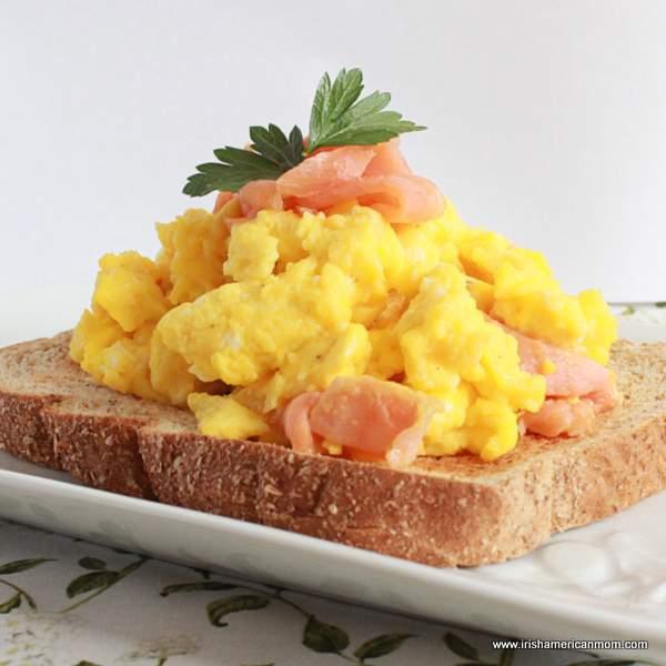 Smoked Salmon Scrambled Eggs On Toast