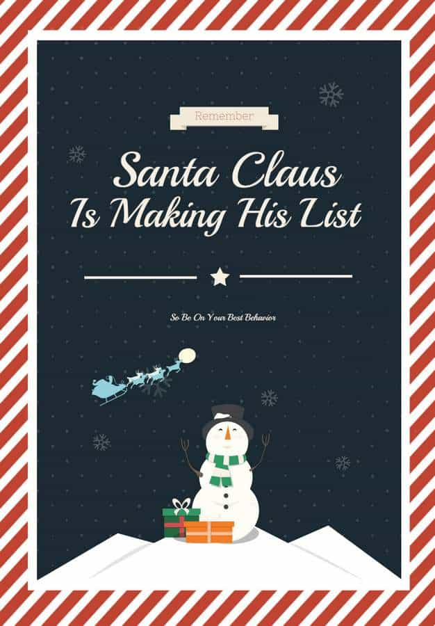 Santa Claus Is Making His List