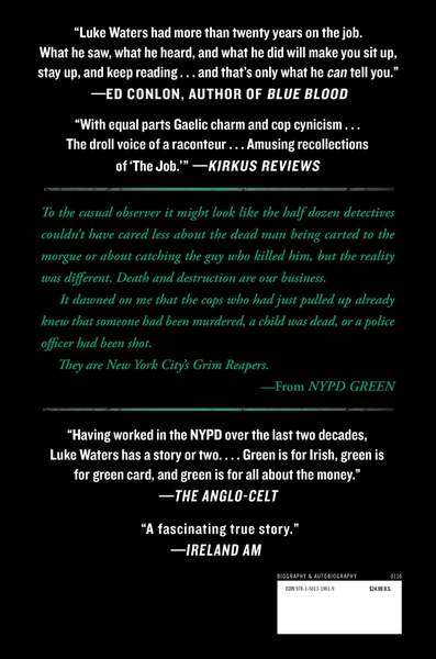 NYPD Green back jacket cover